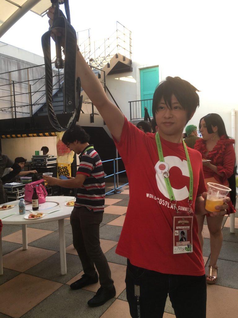 乾杯する日本代表
